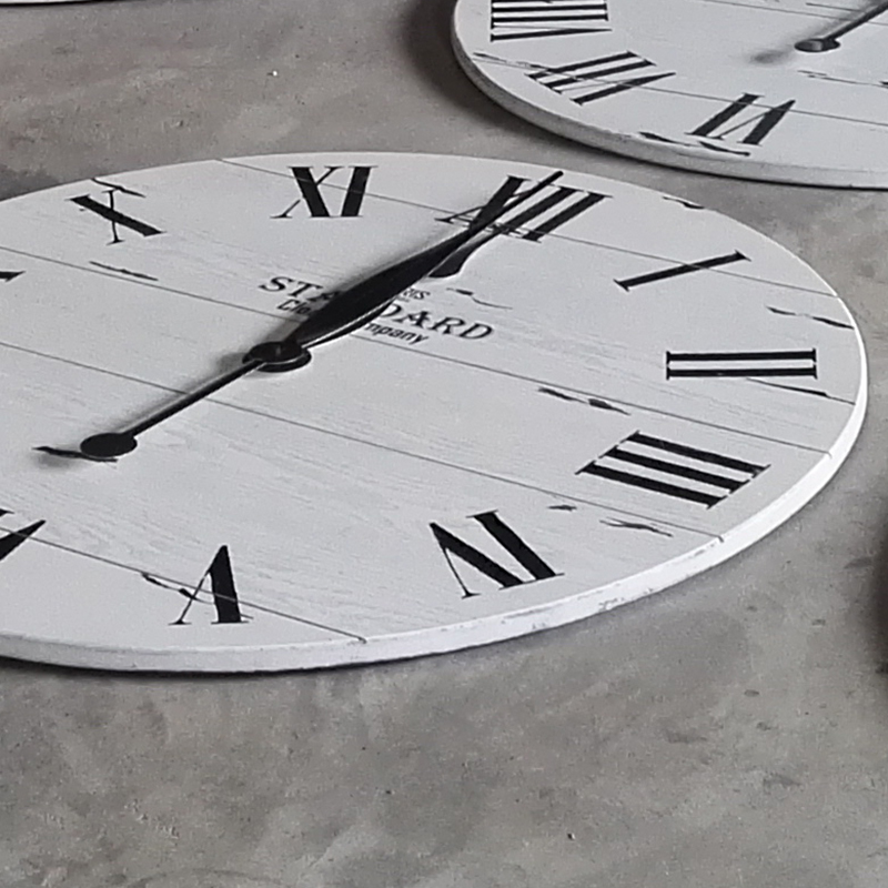 the clock hands of the 36 inches wall clock