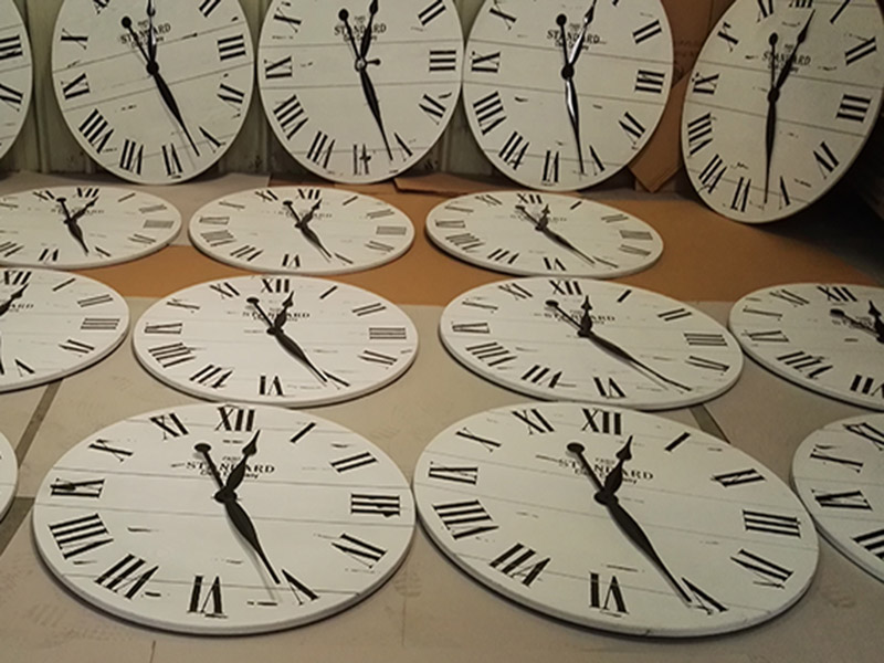 check each clock's movement before packing
