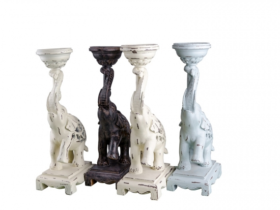 resin elephant candle holders